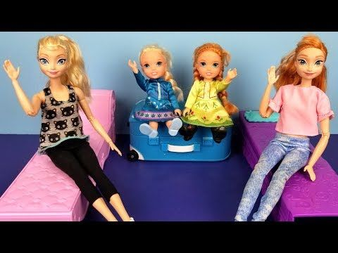 At The Hotel Elsa And Anna Toddlers Unpacking Bedtime Vacation Trip Bath Youtube Disney Barbie Dolls Disney Character Outfits Barbie Family