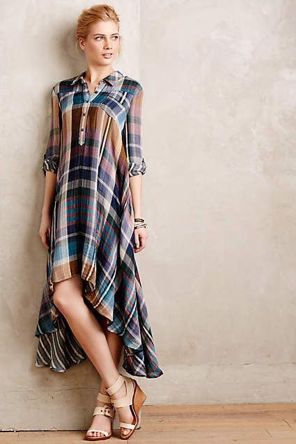 Mixed Plaid Shirtdress - anthropologie.com #anthropologie #AnthroFave