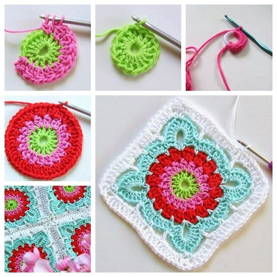 Crochet Flower Tutorial For Beginners : Crochet flowers, Blankets and Crochet on Pinterest