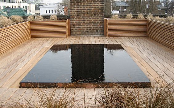 Rooftop reflection pond pinned to garden design water for Garden reflecting pool