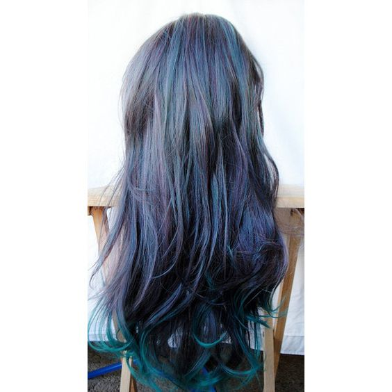 Green Wig Cosplay Wig Scene Wig Emo Wig Gray Teal Hair Lolita Cosplay... (€69) ❤ liked on Polyvore featuring beauty products, haircare, hair styling tools, hair, cabelos, hairstyles, beauty, makeup, styling iron and straight iron