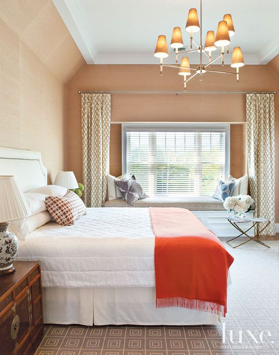 Peach And Coral Bedroom Pinterest High Ceilings Design And Dream Bedroom