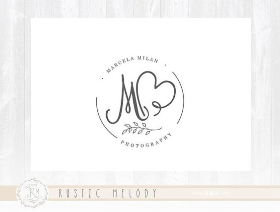 Photography Logo Design Heart Logo Gold Logo Boutique Logo Signature Logo Decor Logo Design Gold Logo Watermark