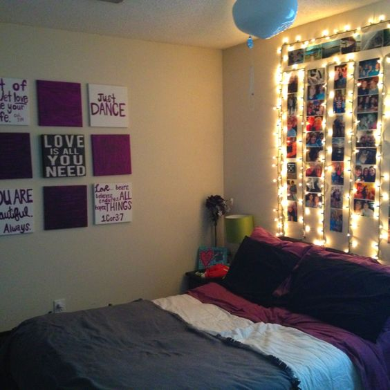 College Bedroom Wall Decor : Inspiring ideas for christmas lights in the bedroom