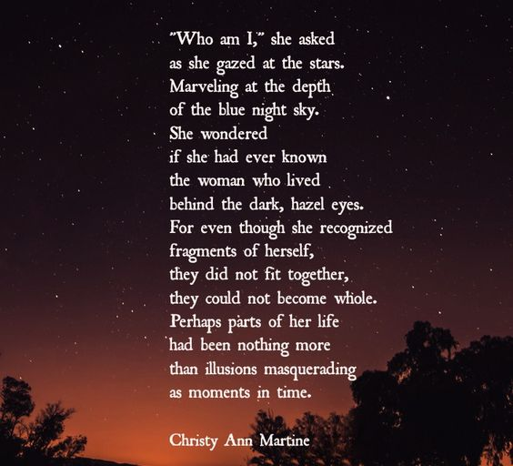 Star Gazing by Christy Ann Martine - self reflection - poems - poetry #christyannmartine