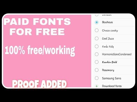 How To Download Paid Fonts For Free In Samsung Youtube Samsung Free Fonts Download Beautiful Flowers Wallpapers