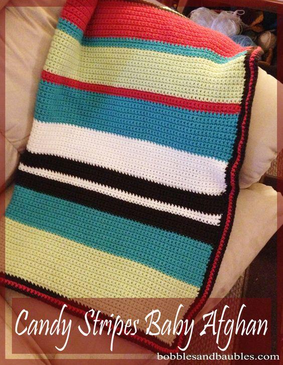 Baby stripe blanket