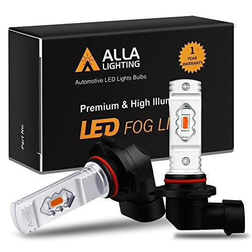 Alla Lighting 3800lm H10 9145 Red Led Fog Lights Bulbs Eti 56 Smd Xtreme Super Bright 9140 H10 9145 Led Bulbs Replacement For Cars Trucks Suvs Vans Automotive Led Lights Led Fog Lights Light Bulb