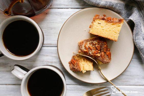 Сметанный пирог к кофе