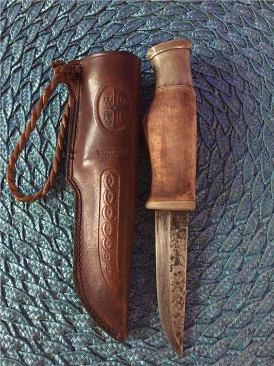 Kniv masur renhorn trolltrumma Gunnar Edholm Tundra på Tradera.com -