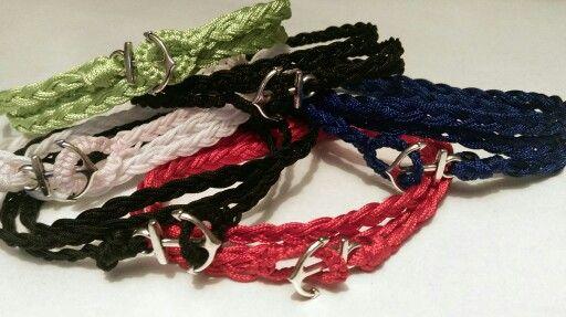 Bracelets ancre, nombreuses couleurs de fil disponible \ en vente sur bracelet Factory \ Chf 10.-