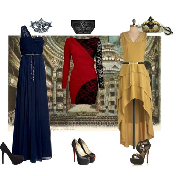 Masquerade Inspired, created by kamababus on Polyvore