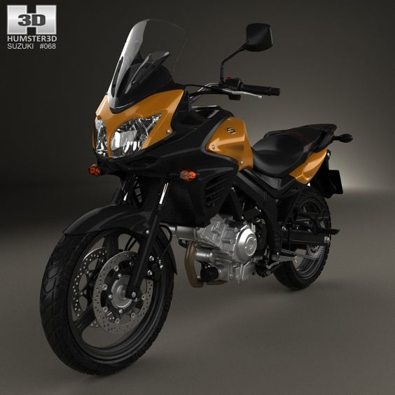 Suzuki V-Strom 650A 2015 3d model from Humster3D.com.