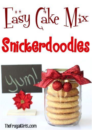 White Cake Mix Snickerdoodle Cookie Recipe