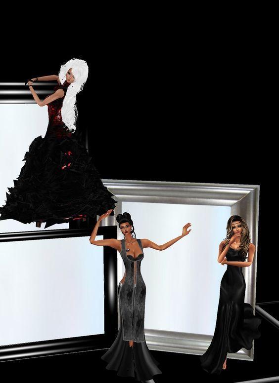Left: Aluna ( Creator / 2nd Top Model ), Center: Diesl ( Owner / Model ), Right: ( Co-owner / Model) Group Evening Dress Photo Shoot