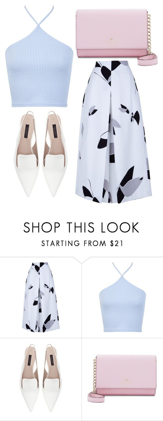 """Untitled #3047"" by evalentina92 ❤ liked on Polyvore featuring TIBI, Miss Selfridge, Zara and Kate Spade"