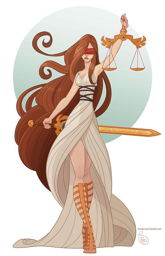 Dama da Justiça Deusa romana que é, na verdade, uma fusão das deusas Temis e sua filha Dice (ambas gregas). by MeoMai http://meomai.deviantart.com/