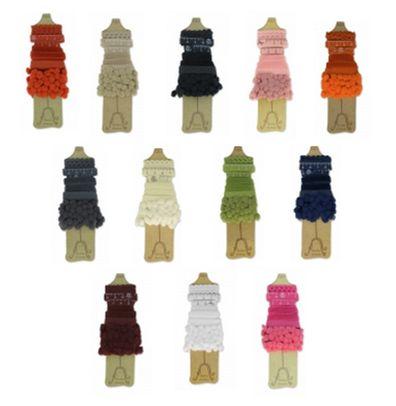Joli assortiment de 5 rubans Mediac Couture de 1 m en coton (pompons, ruban gros grains à pois, ruban velours, ruban motif mètre, ruban vague). A partir de 3,00€ >>> http://www.perlesandco.com/Rubans_Galons_Rubans_assortis-c-139_1700_1443.html