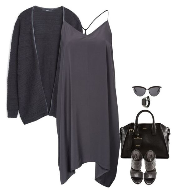 """""""Untitled #3688"""" by miki006 ❤ liked on Polyvore featuring MANGO, DKNY, Noisy May, Rachel Zoe, Rebecca Minkoff and The Row"""