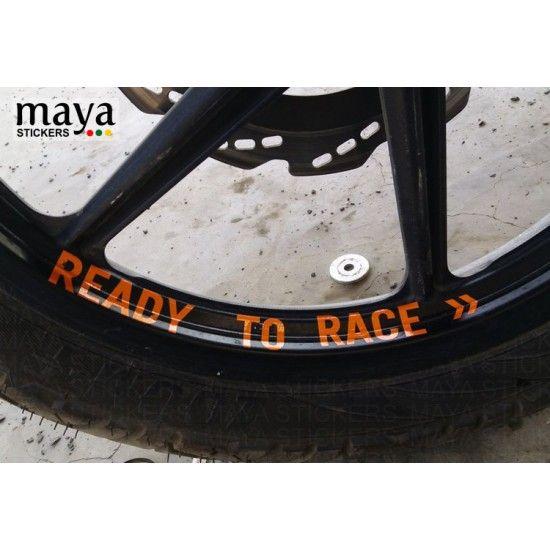 Ready To Race Stickers On Ktm Duke Wheel Rim Ktm Biker Stickers
