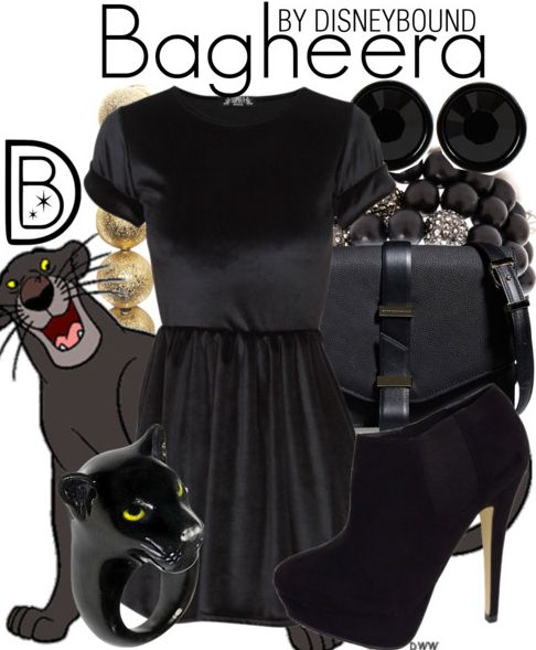 Look sleek as a panther in this Baheera outfit. | Disney Fashion | Disney Fashion Outfits | Disney Outfits | Disney Outfits Ideas | Disneybound Outfits |  Jungle Book |