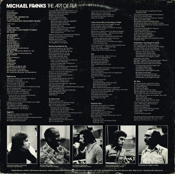 Michael Franks - The Art Of Tea (Vinyl, LP, Album) at Discogs