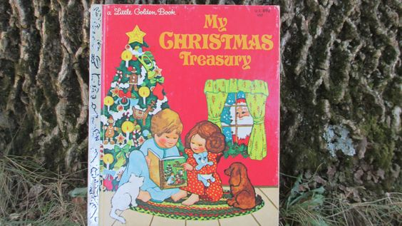 Vintage Childs Book My Christmas Treasury Little Golden Book by jclairep on Etsy