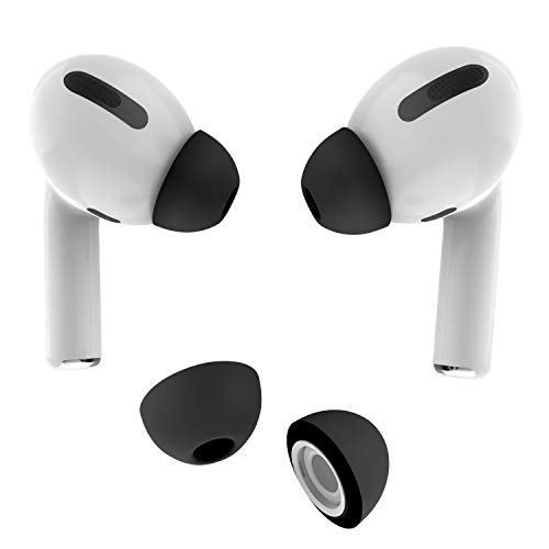 Allbingo Ear Tips Compatible With Airpods Pro 2 Pairs Silicone Anti Slip Replacement Earbuds Cover Accessories Small Medium Large Compatible For Apple Airpods Airpods Pro Earbuds Classic Black