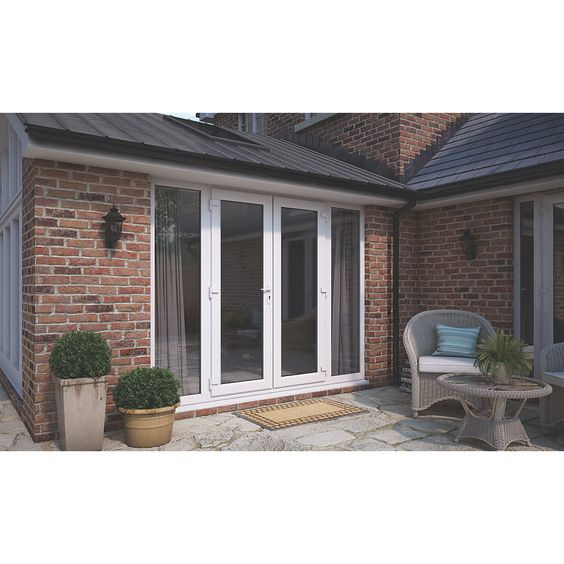 ATT uPVC French Doors & Sidelights White 2690 x 2090mm | French Doors | Screwfix.com