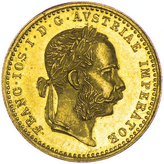Franz Joseph I. 1848 - 1916, Dukat 1882 Gold