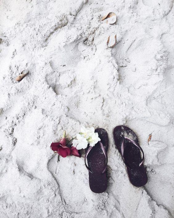 pé na areia