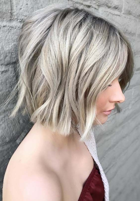 54 Best Short Blunt Bob Haircuts For 2018 Messy Bob Hairstyles Wavy Bob Haircuts Wavy Bob Hairstyles