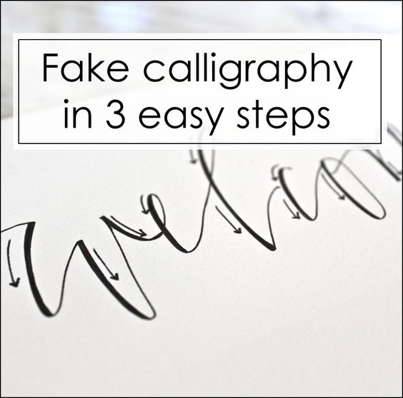 Easy steps for improving your handwriting and faking