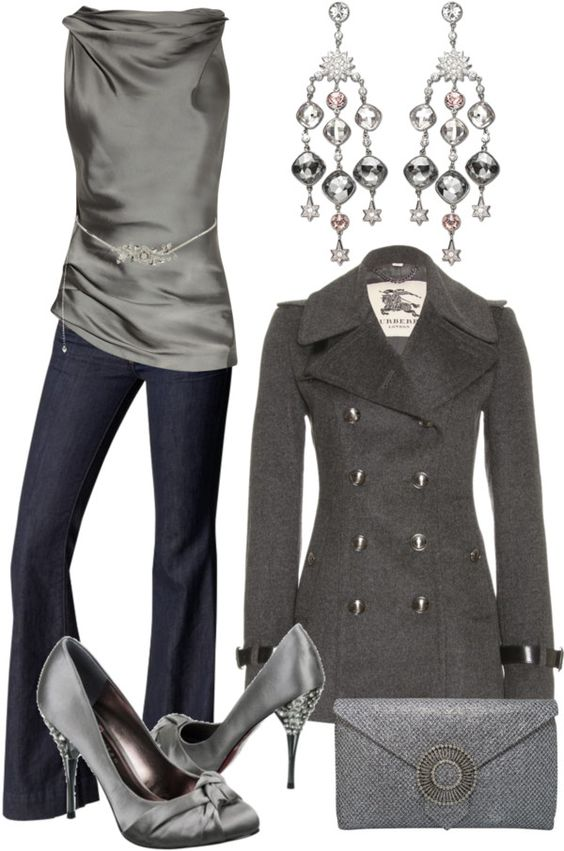 """Silver & Grey"" by stay-at-home-mom on Polyvore"