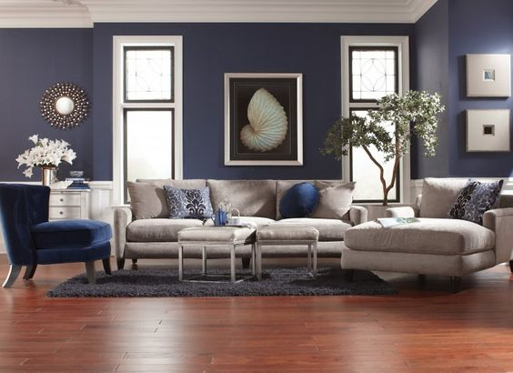 Old world charm transitional sofas and old world on pinterest Midnight blue living room furniture