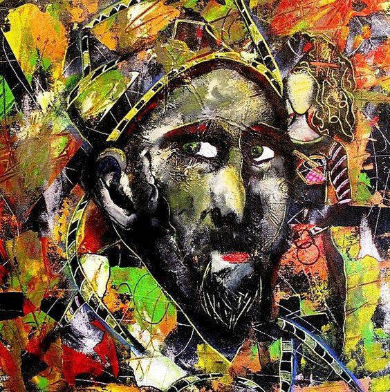"""For Sale: Where is My Power? by Penelope Przekop   $300   15""""w 15""""h   Original Art   https://www.vangoart.co/penelopeprzekop/where-is-my-power @VangoArt"""