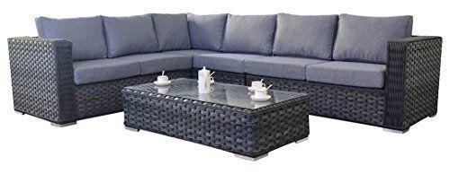 Port Royal Large Platinum Rattan Garden Furniture Corner Sofa Set Grey Mode Desig Grey Garden Furniture Terrace Furniture Country Bedroom Furniture