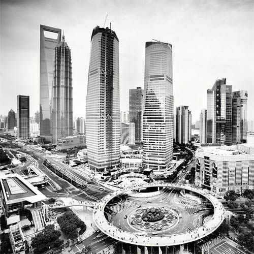 Black and White Shangai by Martin Stavars