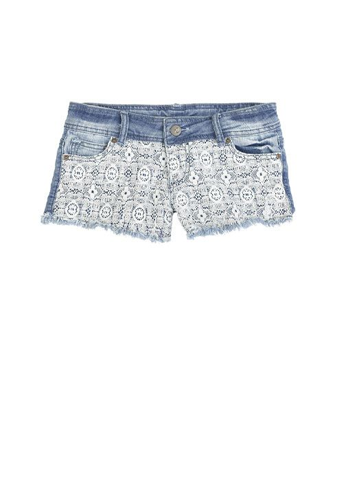 dELiAs > Lace Panel Short > bottoms > shorts > view all shorts