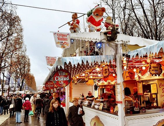 One of the many Christmas Markets in Paris, the market lining the Champs-Élysées Market is one of the largest in town. Here you can do some shopping and eat some seasons delights at the same time.