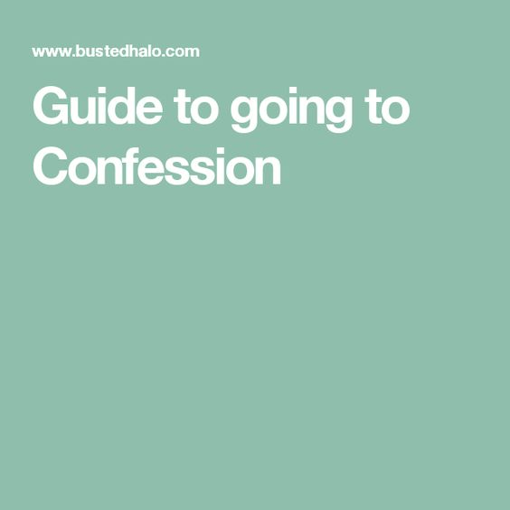 Guide to going to Confession