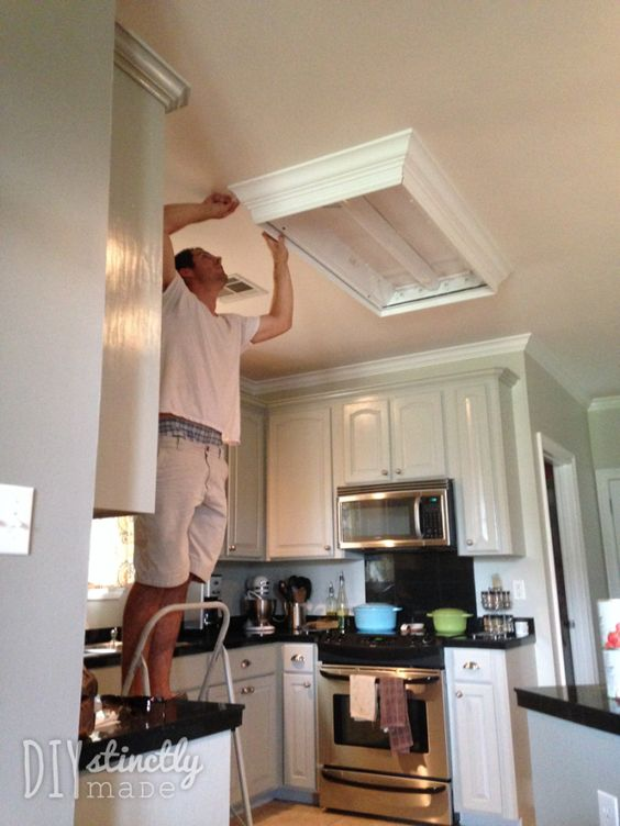DIY Recessed and Under-Cabinet Lighting. Upgrade those fluorescent lights and install recessed lighting for less than $100 | DIYstinctlyMade.com