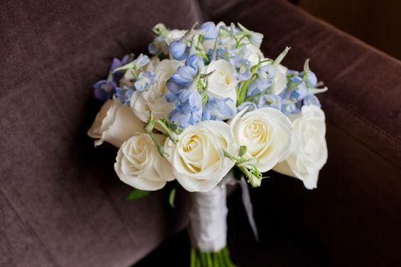 Nora's ivory & pale blue bouquet: Bride S Book, Color Combos, Wedding Ideas, Beautiful Ideas, Brides, Bride Bouquets, Boutonniere Idea
