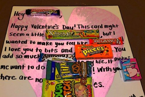 candy card. Used thick poster board, sharpies and candy to create.