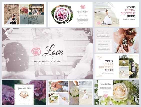 Love is a Clean and easy to customize Powerpoint Template for your - wedding powerpoint template