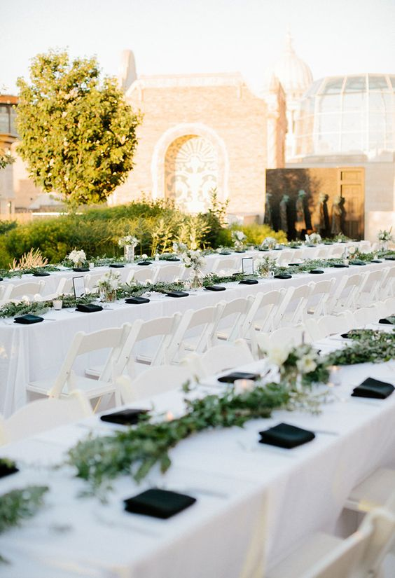 farm table, wedding farm table, organic farm table wedding, organic madison wi wedding, organic blooms, olive leafs, olive branches, olive leaf decor, organic florals, rooftop wedding, wisconsin wedding photography, carly mccray photography:
