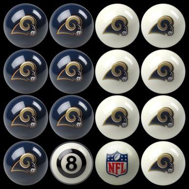 St Louis Rams NFL Pool Ball Set