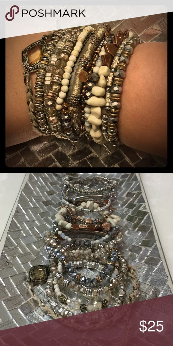 [L O T  O F  B R A C E L E T S] Beautiful set of 12 bracelets! Purchased in packs of 3, $20 each. Perfect addition to any outfit!! Boutique Jewelry Bracelets