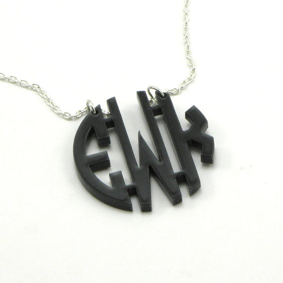 Acrylic Monogram Necklace  Monogrammed Gift by McLaughlinCreations, $28.00