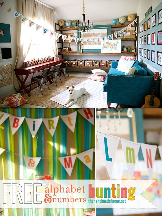 free alphabet {and numbers} bunting | the handmade home